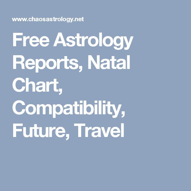 Free Astrology Reports, Natal Chart, Compatibility, Future, Travel