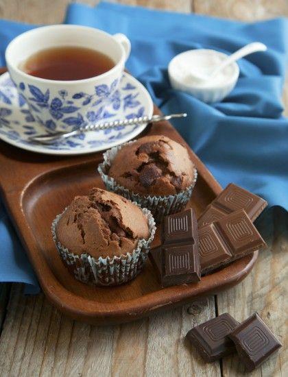 Idee per la colazione: muffin al cioccolato vegan sani e golosi
