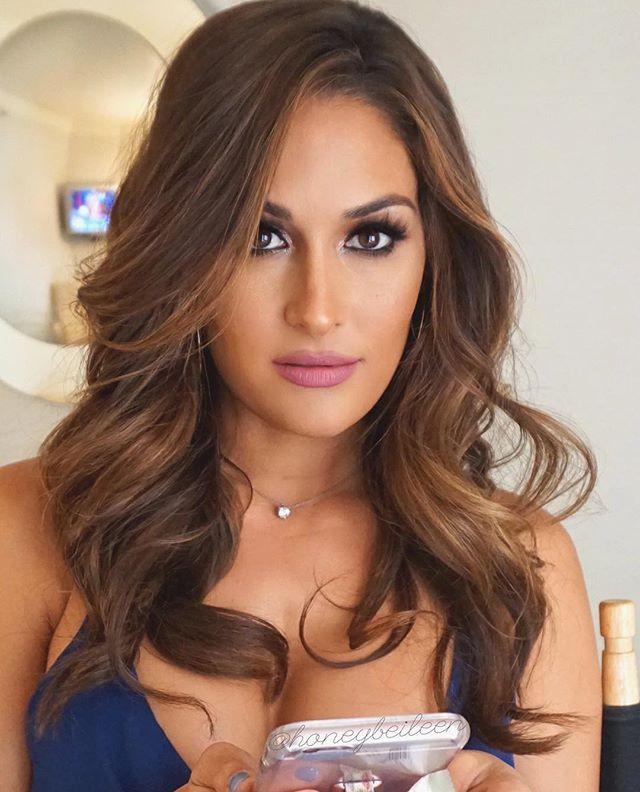 Hair & makeup on my beauty queen @thenikkibella ❤️ Lashes: @blvdbeauty…