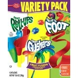 Fruit Roll-ups, Fruit Gushers, and Fruit by the Foot!