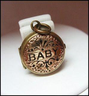 Victorian baby locket circa 1890