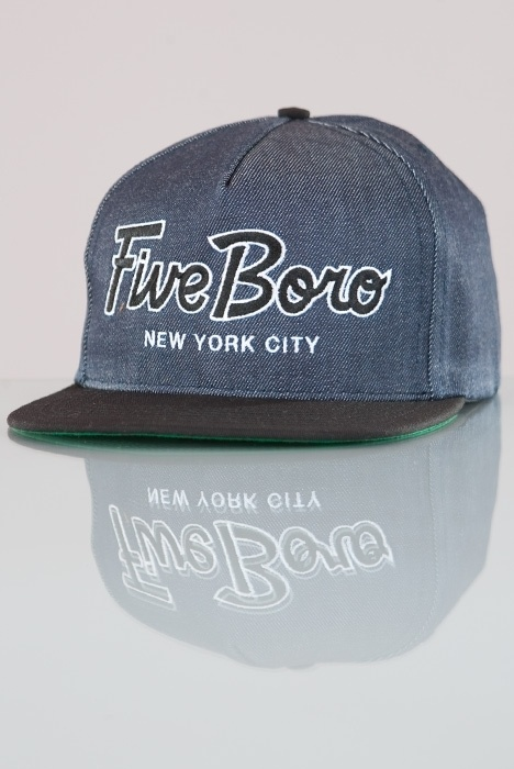Five Boro-Team Script CORDUROY Denim/Blk