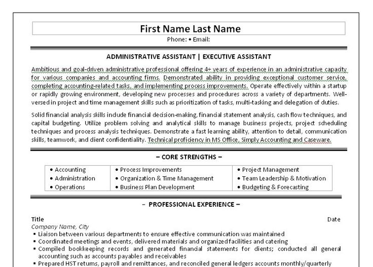 10 best Best Administrative Assistant Resume Templates \ Samples - sample resume for administrative assistant