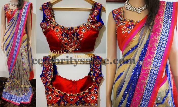 Mirror Work Pretty Blouse by Sony | Saree Blouse Patterns