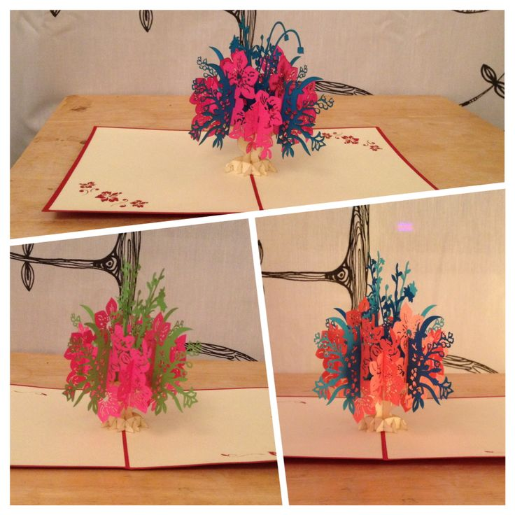 3D pop up card. Not only as a card, can be a decoration on a table or a shelf