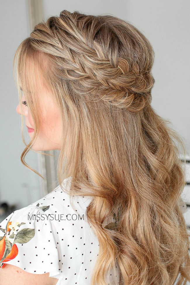 Half Up Double Fishtail French Braids Missy Sue French Braid Hairstyles Fishtail French Braid Braided Hairstyles