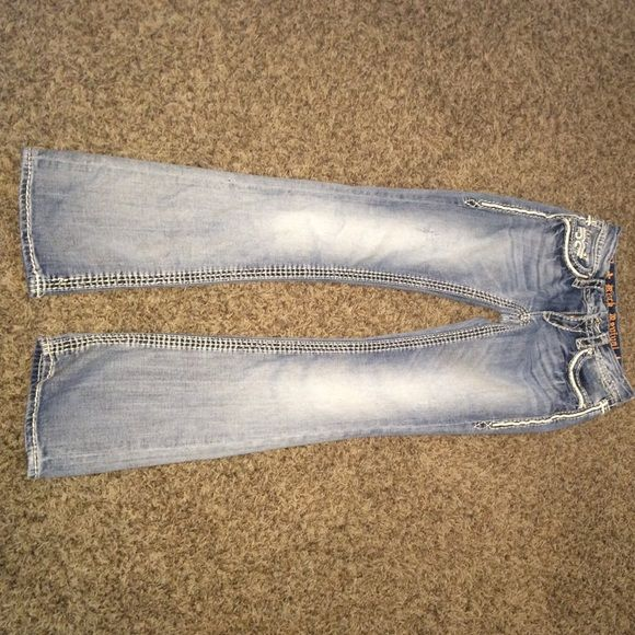 Rock revival jeans Light wash rock revivals, don't fit only worn once. Perfect condition Rock Revival Jeans Boot Cut