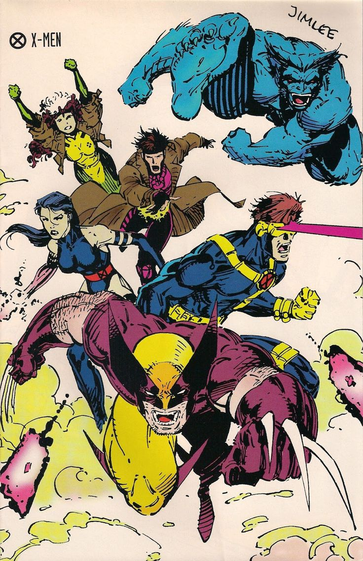 X-Men - Wolverine, Psylocke, Cyclops, Gambit, Beast and Rogue - Marvel Comics