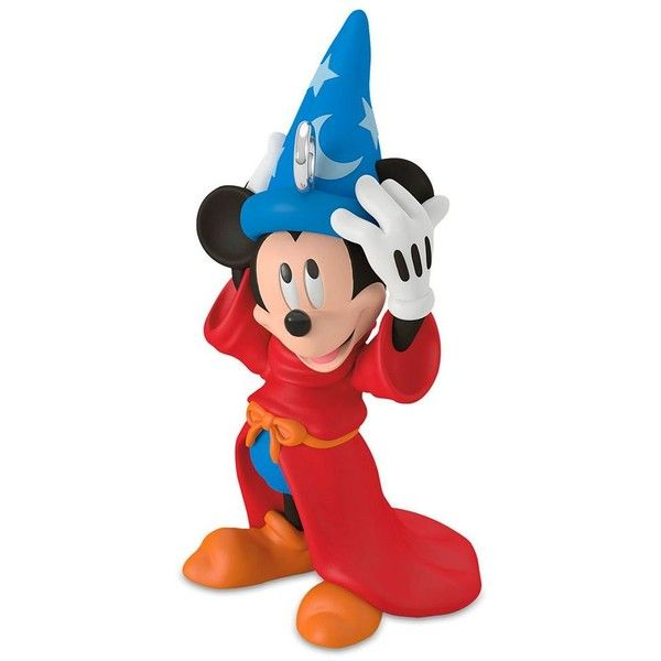 Disney's Fantasia The Sorcerer's Apprentice Mini 2017 Hallmark... ($7.95) ❤ liked on Polyvore featuring home, home decor, holiday decorations, multicolor, mickey mouse ornaments, plastic christmas ornaments, mickey mouse christmas ornaments, christmas tree ornaments and mini christmas tree ornaments