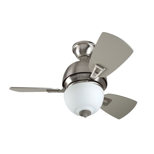 Dane Stainless Steel 30-Inch Two-Light Ceiling Fan with Three Blades