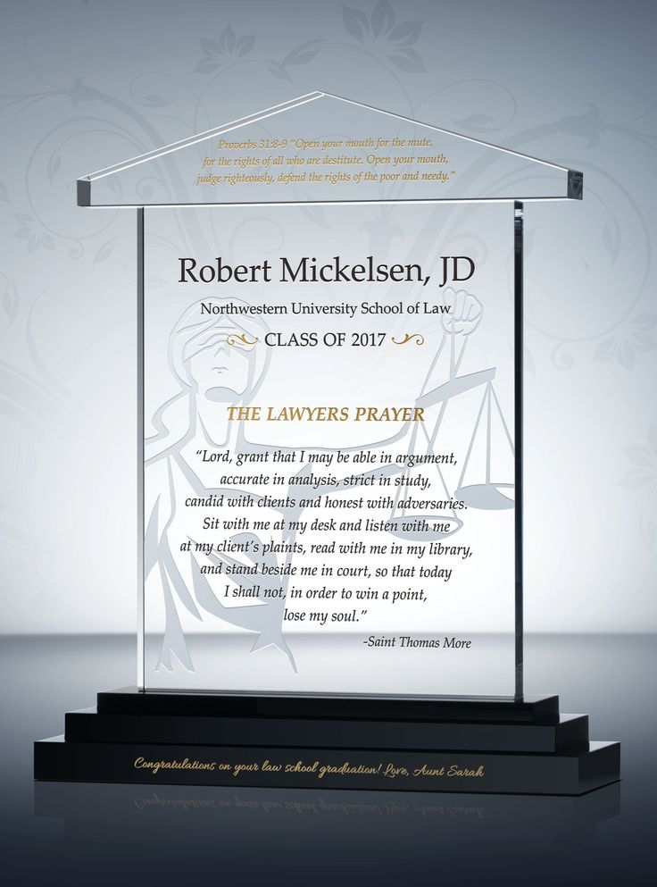 The regal pillars and scales of justice are design details that bring this gorgeous Lawyer Graduation Gift to life. An ideal law school graduation gift for son, it�s a piece every newly minted attorney should have in his or her office.