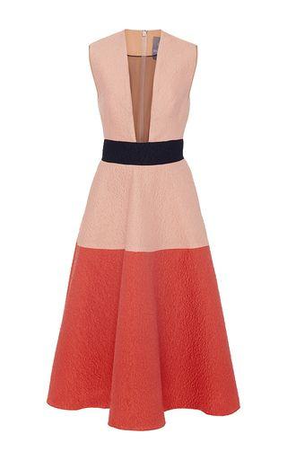 Sleeveless Color Block Dress by Lela Rose | Moda Operandi