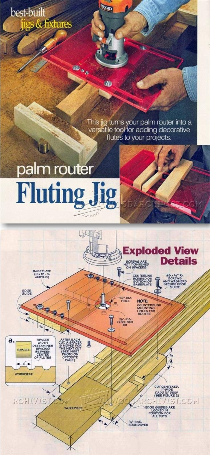 DIY Router Fluting Jig - Woodworking Tips and Techniques | WoodArchivist.com