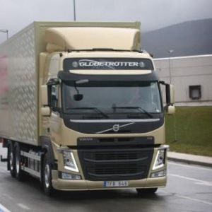 The new Volvo FM on the road prior to launch