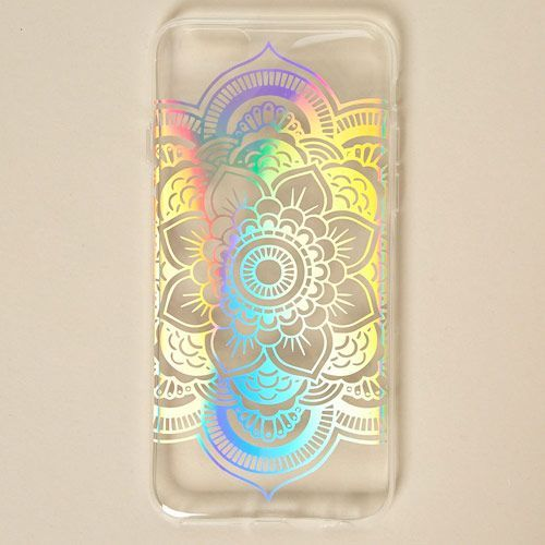 timeless design f6b00 086de Holographic Mandala Phone Case | Claire's | phone accessories in ...