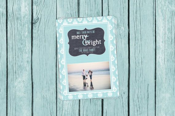 photo Christmas card, beach Christmas card, digital file or professionally printed