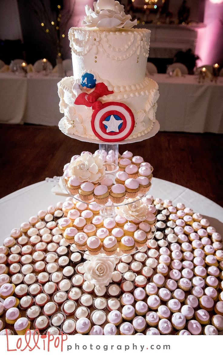 Captain America made an appearance on the wedding cake!