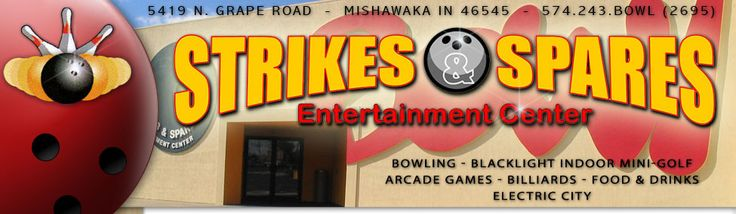 Strikes & Spares Entertainment Center - Mishawaka Bowling and Mini Golf  25.6 Miles from Southwestern Michigan College