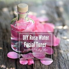 DIY Rose Water Facial Toner - Perfect for dry skin. Cleanses and renews leaving your skin feeling fresh and and hydrated.