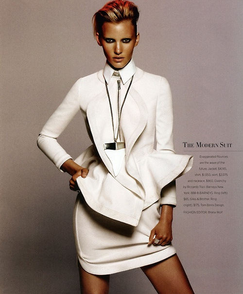 Emily Baker in Givenchy, photographed by Daniel Jackson for Harper's Bazaar US April 2012.