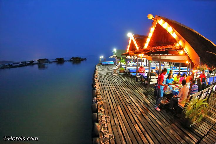 Phuket's floating seafood restaurants ('krachang' in Thai) are a fun way to dine out and can be found along the east coast of Phuket. The trip involves a fun, brief long-tail boat ride from Laem Hin Pier to the restaurants. It's a great day out