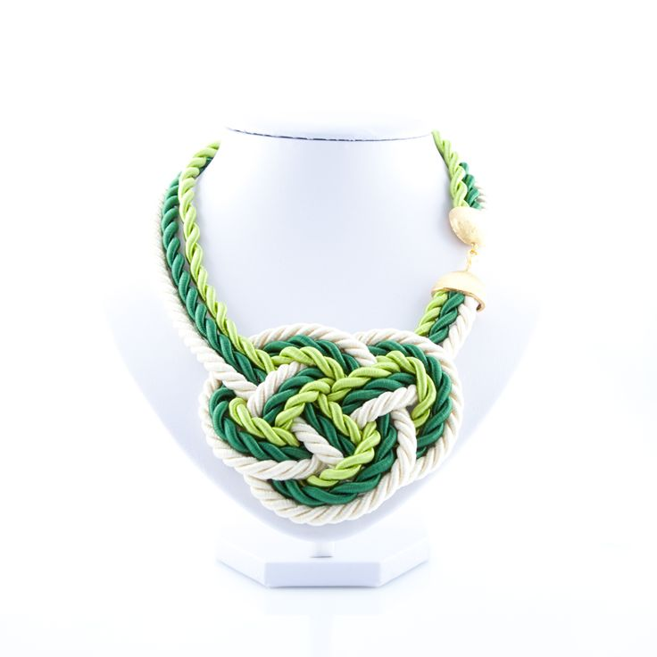 The Crossing Paths #Necklace is a #handmade stitch work by #APreciouZ. We used elegant #silk and #satin cords with bright colors to give you a truly unique look. This piece is an eye catcher!