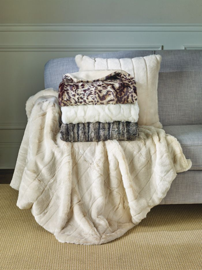 Faux Fur Cushions and Throws | Living Room Home Decor