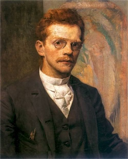 "Józef Mehoffer (19 March 1869 - 8 July 1946) - ""Self-Portrait"" 1894:"