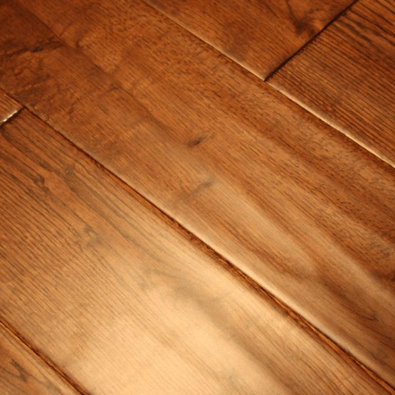 Oak Gunstock 3 4 X 5 Hand Scraped Hardwood Flooring Our