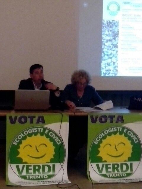 Serata Cognola rifiuti zero. Elezioni comunali Trento 10 maggio 2015