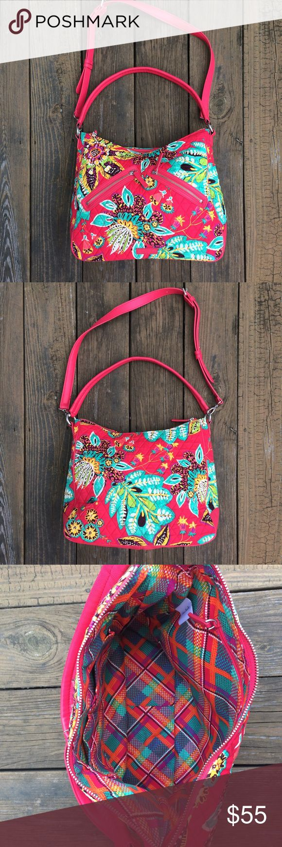 Selling this NWOT Pink Vera Bradley Vivian Signature Hobo Bag on Poshmark! My username is: ksreeder. #shopmycloset #poshmark #fashion #shopping #style #forsale #Vera Bradley #Handbags