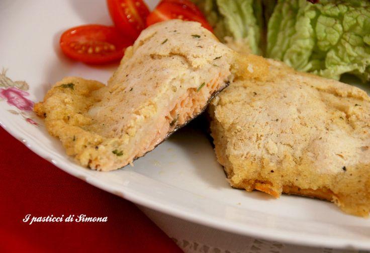Filetti di trota salmonata in crosta di patate