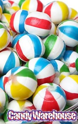 These hard candy Beach Balls are great for taking to the beach or pool, and since they won't melt in even the most gruesome heat, you can keep poppin' 'em all summer long. Just try to pace yourself: the cherry flavor is dangerously addicting! http://www.candywarehouse.com/products/sassy-spheres-jumbo-beach-balls-hard-candy-5lb-bag/