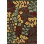 Berry Branch Forest (Green) 7 ft. 3 in. x 9 ft. 3 in. Area Rug