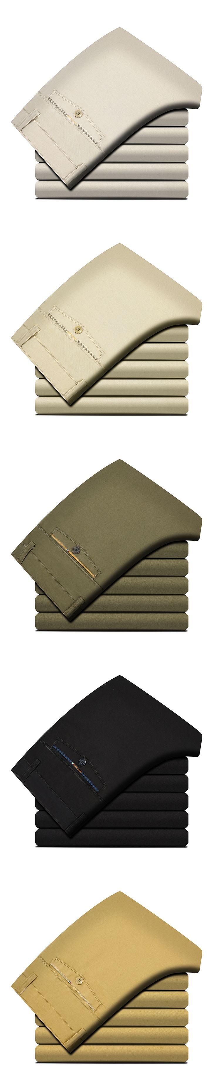 Port&Lotus  100% Cotton Fashion Men Pants Mid Waistline Trousers Men Clothing Size 28 to 40 Men Pants TS003 wholesale