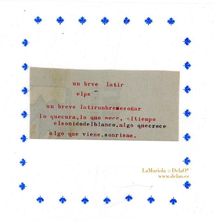 Poesía gráfica by @LaMariola_DelaO #collage #typo #poetry #poesía #gráfica