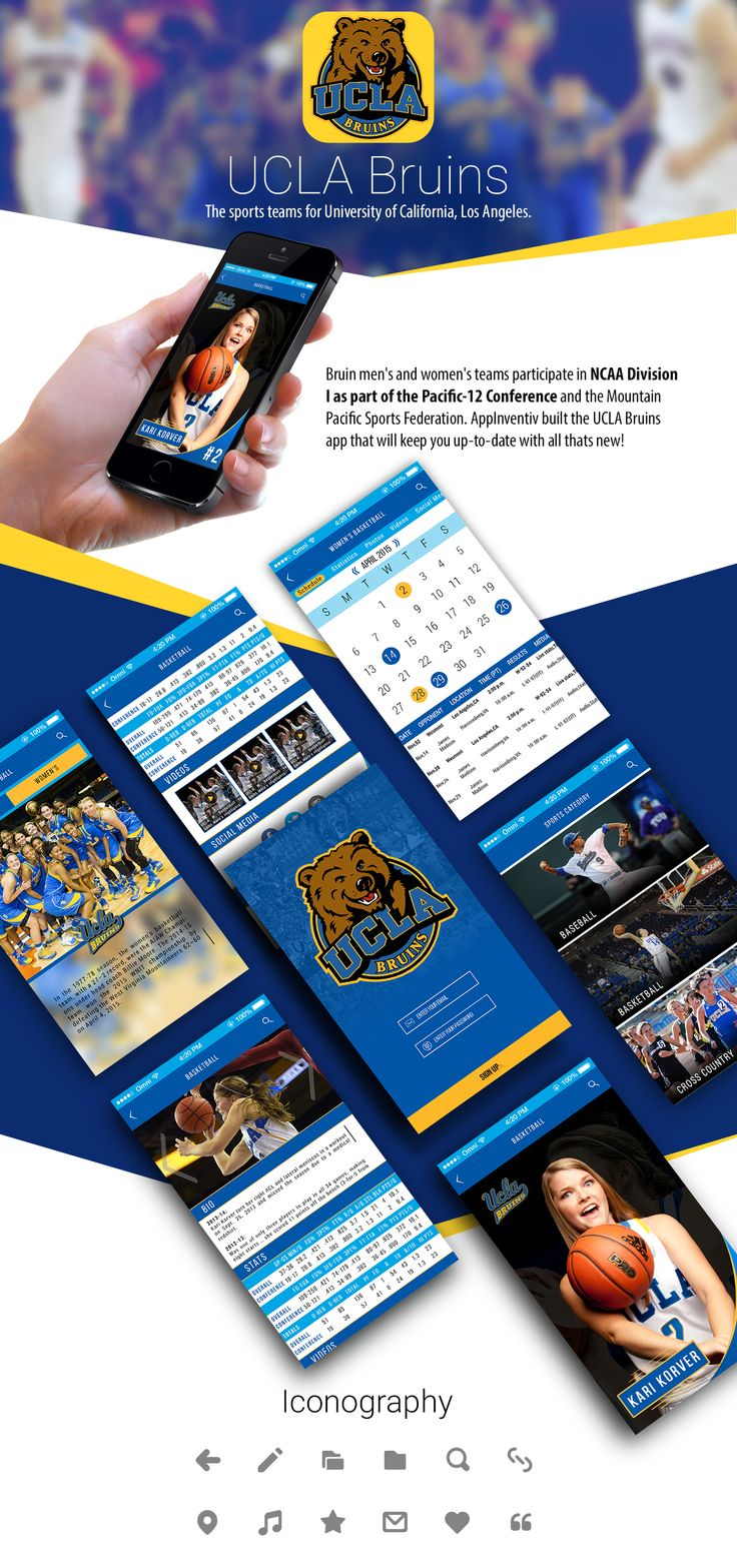 Designed & Developed by AppInventiv, The UCLA Bruins app is the official app for sports team of University of California, which participates in NCAA Division I as part of the Pacific-12 Conference and the Mountain Pacific Sports Federation.