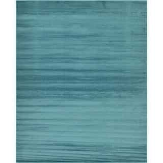 Tribeca Solid Teal Area Rug (8' x 10')