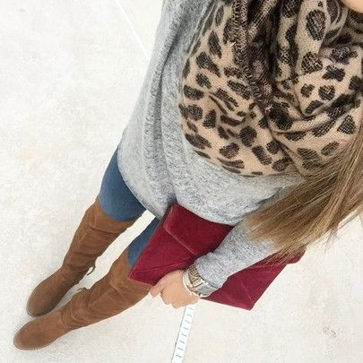 Give me all of the leopard! I found two similar scarfs perfect for winter! This clutch is on SALE in a few colors and perfect for NYE! This sweater is THE softest (in xxs) and these jeans fits so well (in 24)! // Shop your screenshot of this pic with the LIKEtoKNOW.it app & at adoubledose.com/instagram http://liketk.it/2tPxG #liketkit @liketoknow.it #adoubledose