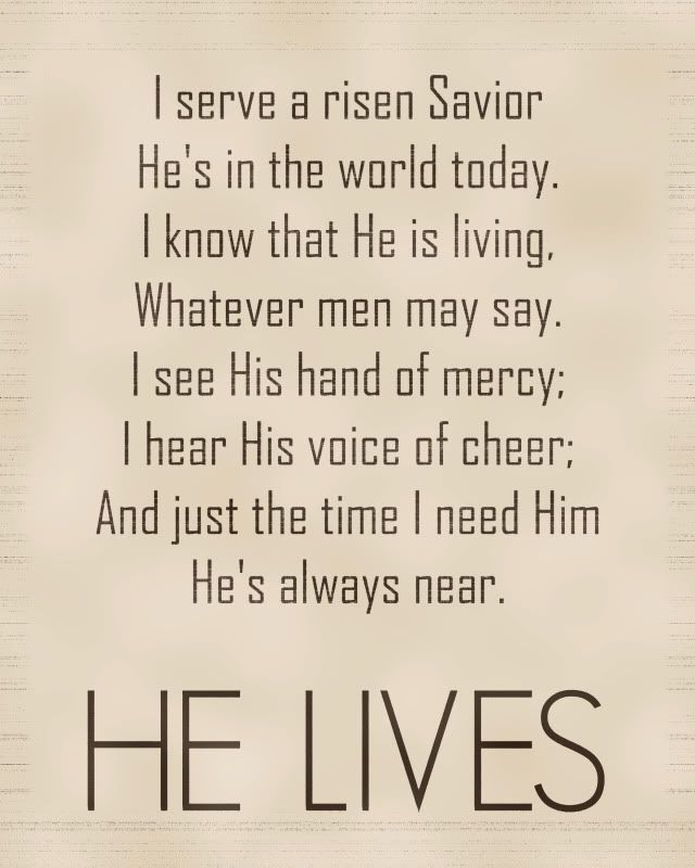 He Lives. Easter printable. Feel free to download and print as an 8x10. by  dominique | Recipe & Holiday Favorites | Spiritual songs, Savior, Lord,  savior