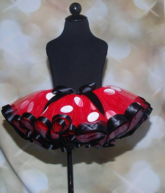Tutu de Minnie Mouse tutú del cumpleaños la cinta tutu