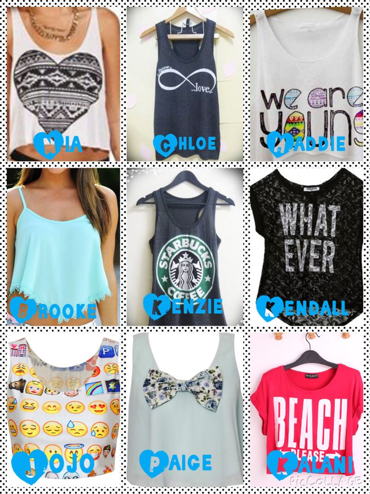 Who's shirt do you like the most?comment!!!