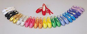 Colorful Pointe Shoes | Sylvia Color Toe: This shoe is the special order heading that is used ...