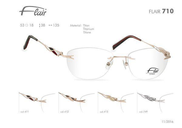 FLAIR Brillen made in Germany: Flair randlose Brillen Modell 710
