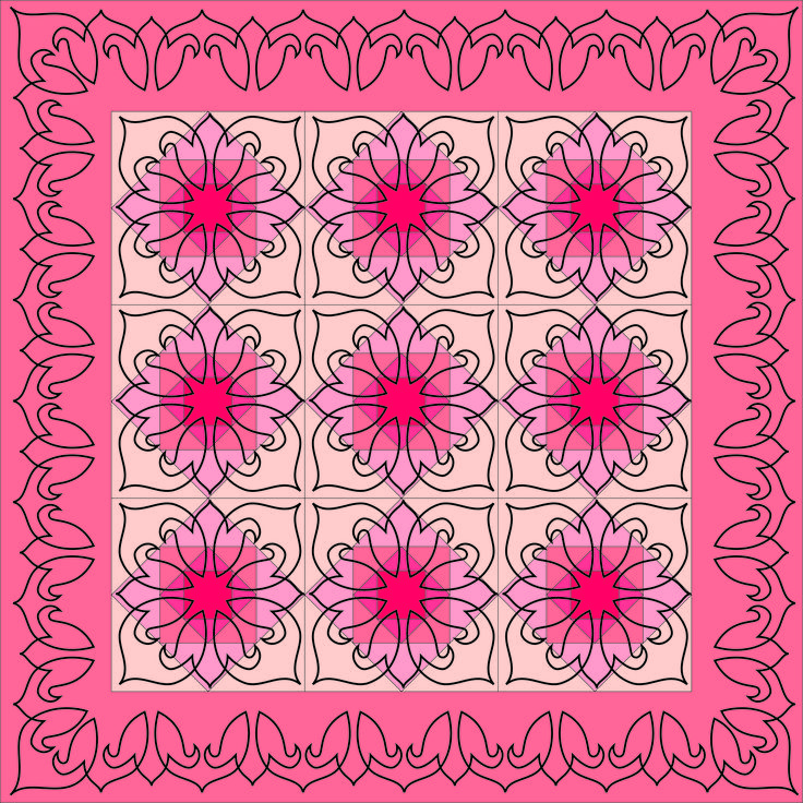 Easy block and border stencil by Fairy Quilt