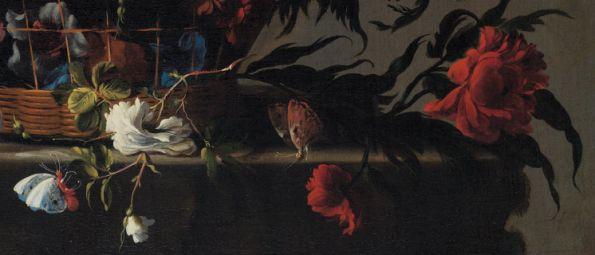 Juan de Arellano, cesta de flores (detalle)