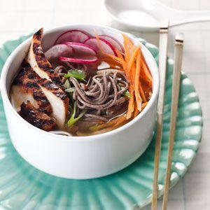 Teriyaki Chicken and Soba Noodles | MyRecipes.com #MyPlate #protein #grain #vegetable