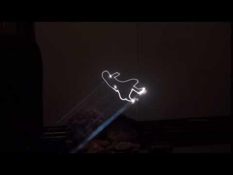 【Lasershow】 Touhou ~ Bad Apple!! (Stylized Laser Art) (HD)