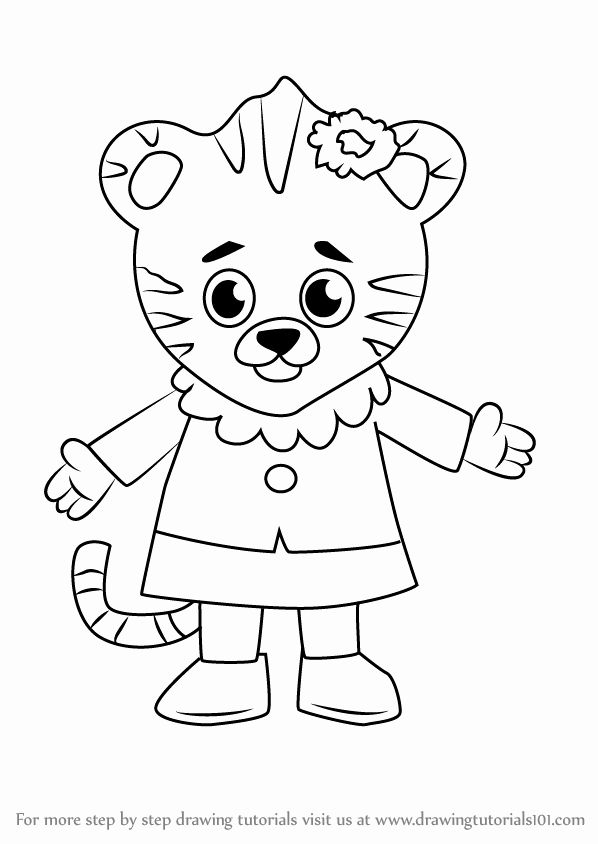Daniel Tiger Coloring Book New Learn How To Draw Margaret Tiger From Daniel Tiger S Dinosaur Coloring Pages Coloring Books Millie Marotta Coloring Book