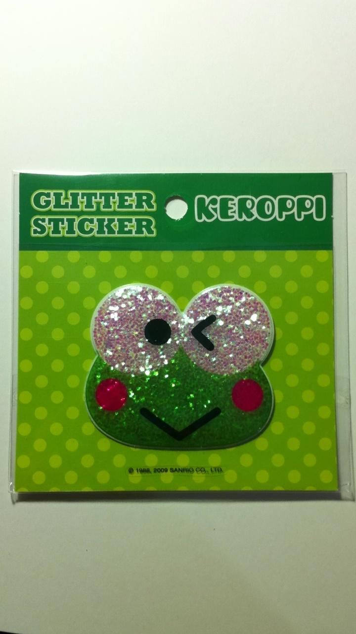 Keroppi Glitter Sanrio Sticker Sanrio, Sanrio characters